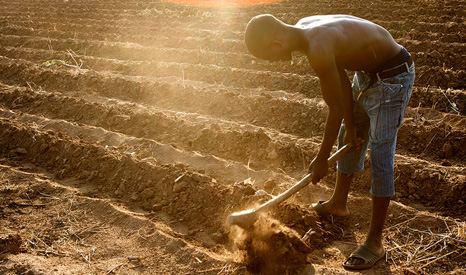 Climate change increases the risk of drought for African farmers (Pic: Australian Department of Foreign Affairs/Flickr)