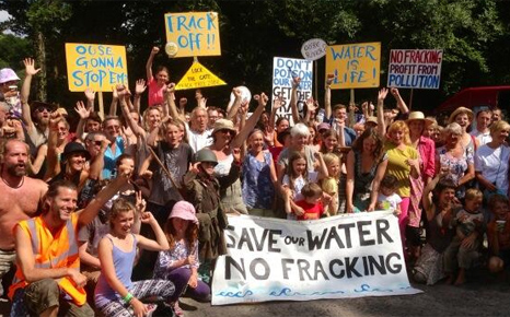 The first day of a summer of fracking protests in Balcombe (Pic: Sophie Yeo/RTCC)
