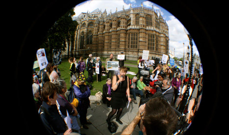Caroline Lucas MP is a veteran campaigner (Pic: Flickr/Campaign Against Arms Trade/Patrick Duce)