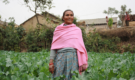 Mother-of-three Belmati is part of a separate UK government scheme to educate subsistence farmers in Nepal (Pic: Dfid)