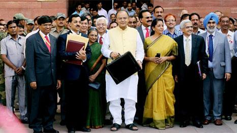 Finance minister Arun Jaitley prepares to deliver budget