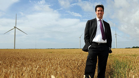 """Labour leader Ed Miliband: """"I deeply care about climate change"""" (Pic: RWE Npower Renewables)"""
