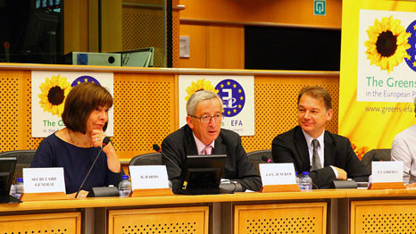 Juncker addressed questions from Green MEPs today (Pic: greensefa/Flickr)