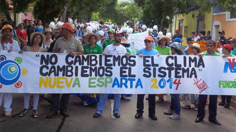 Civil society has gathered in Venezuela to discuss international climate action. (Pic: @SocialPreCop/Twitter)