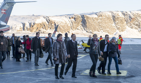 Ban Ki Moon and Thorning-Schmidt visited Greenland to witness first-hand the impacts of climate change there (Pic: UN Photos)