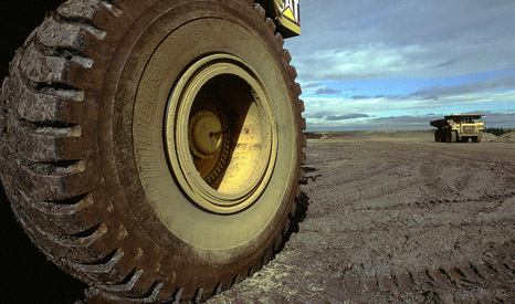 Oil sand trucks in Athabasca (Pic: Shell)