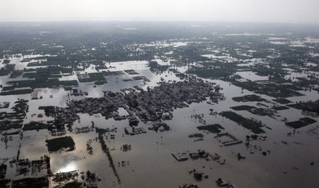 Heavy flooding caused by monsoon rains in Punjab Province, near the city of Multan, Pakistan, in 2010 (Pic: UN Photos)