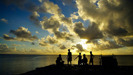 Tuvalu is an idyllic island, but climate change means some want to leave (Pic: Tomoaki INABA/Flickr)