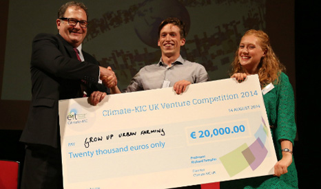 Competition winners GrowUp (Pic: Climate-KIC)