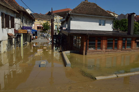 Flooding in May in Bosnia and Serbia killed around 80 people (Pic: Ian Bancroft/Flickr)