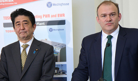 Prime Minister of Japan Shinzo Abe and Ed Davey, Secretary of State for Energy & Climate Change (Pic: FCO)