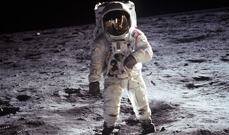 Green Climate Fund aims to raise as much as cost of the Apollo moon mission (Pic: Wikimedia commons/Aldrin Apollo 11)