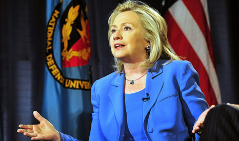 """Hillary Clinton: """"America's ability to lead the world on climate and energy hinges on our commitment to act ourselves"""" (Source: flickr/US State Dept)"""