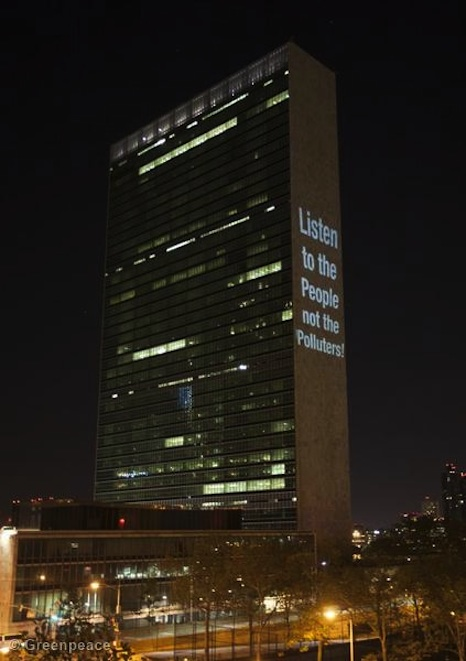 UN Climate Summit Projection Action