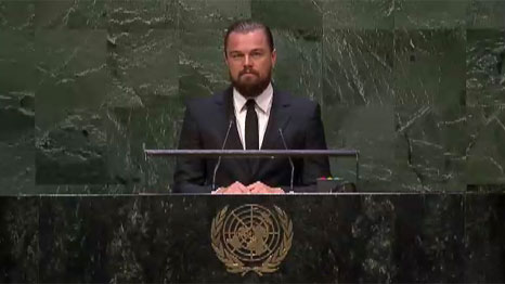 Leonardo DiCaprio was recently named a UN messenger of peace