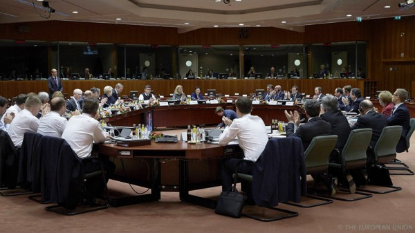 Heads of European states meeting in Brussels yesterday (Pic: Flickr/President of the European Council)