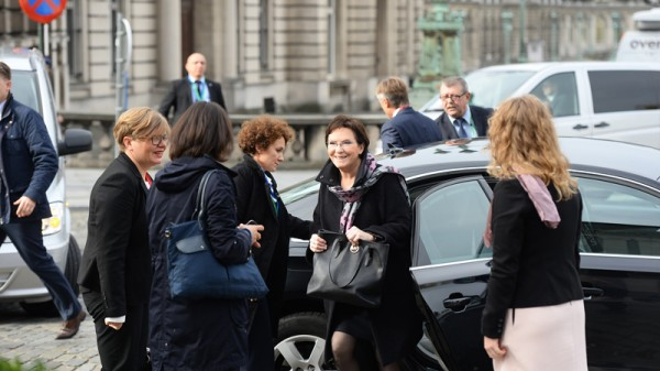 Poland prime minister Ewa Kopacz arrives in Brussels for European Council meeting (Pic: Flickr/European People's Party)