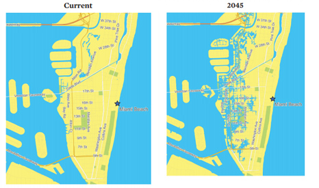 Rising sea levels could leave many parts of Miami beach submerged, says the UCS (Pic: UCS)