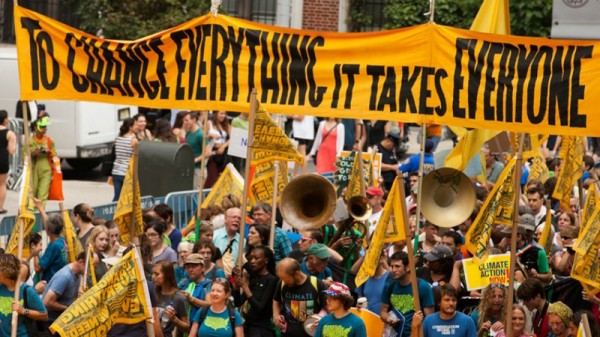 """The People's Climate March gave """"a glimpse of a far more urgent, motivated climate justice movement"""" (Pic: Flickr/South Bend Voice)"""