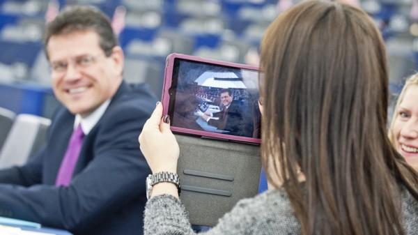 Maros Sefcovic in the European Parliament (Pic: Flickr/European Parliament)