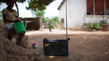 Radio can be used to help farmers time their planting as weather patterns change (Pic: Gates Foundation)