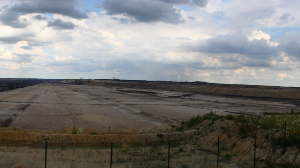 Strip-mining for lignite flattens the landscape in east Germany