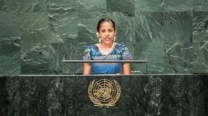 Marshall Islands poet says youth must lead climate fight