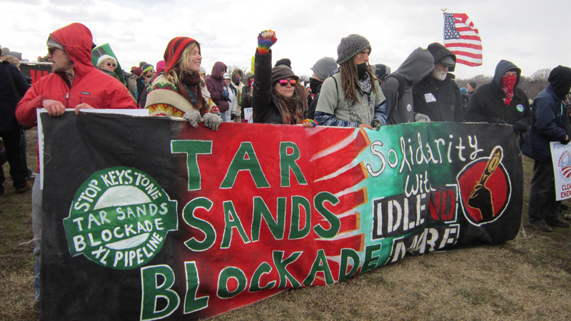 Thousands of activists protested against the Keystone XL pipeline (Pic: Flickr/cranberries)