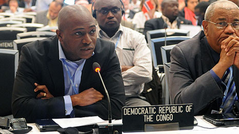Mpanu Mpanu speaks at the UN for the DRC (Pic: IISD Reporting Services/Flickr)