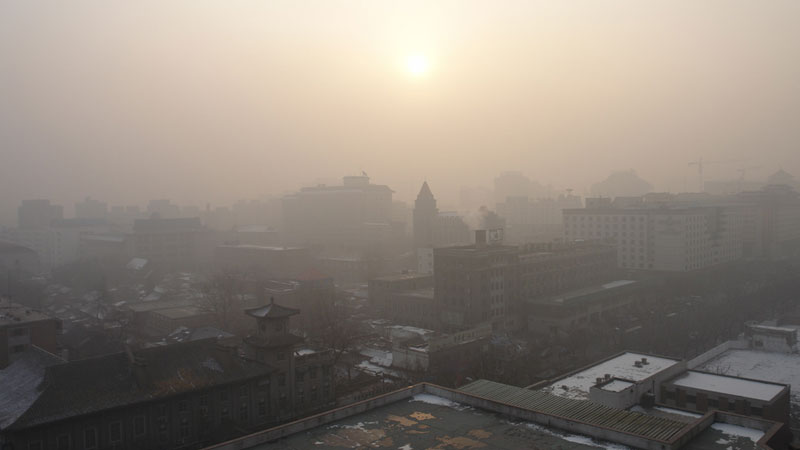 Beijing's air pollution has prompted action to reduce emissions by the Chinese government (Pic: J Aaron Farr/Flickr)