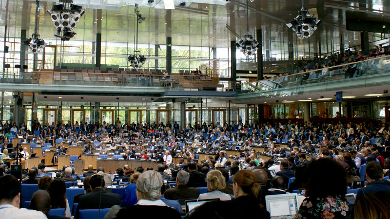 Negotiators meet for one of their many intersessional climate talks in Bonn (Pic: Ministerio del Ambiente/Flickr)