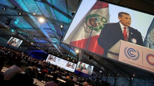 Peru president Ollanta Humala addresses a high level session in Lima (Pic: Flickr/Presidencia Perú)