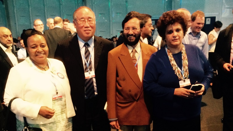 Ministers Edna Molewa, Xie Zhenhua, Prakash Javadekar and Izabella Teixeira (Pic: Brazil Government)