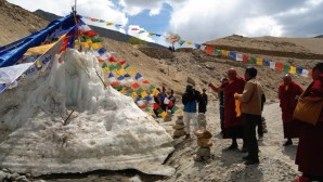 "Crowdfunded ""ice stupas"" help Ladakh adapt to climate change"