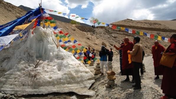 """Crowdfunded """"ice stupas"""" help Ladakh adapt to climate change"""