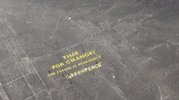 The message laid out by activists as UN climate talks started in Lima (Pic: Facebook/Greenpeace International)