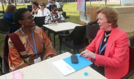 Winnie Byanyima and former Ireland president Mary Robinson (Pic: Twitter)
