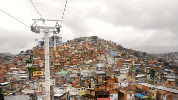 A new cable car links favela Complexo do Alemão to the centre of Rio de Janeiro (Pic: Claudia Murray)