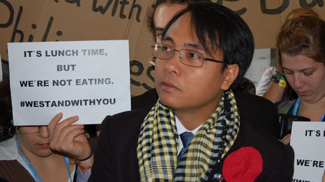 Yeb Sano is absent from the Lima climate talks (Pic: 350)