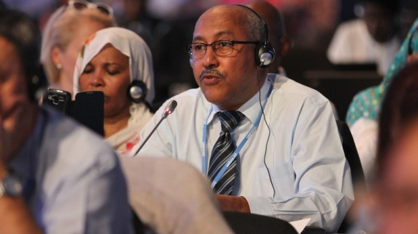 Sudan's delegate criticisms today evoked the power struggle at the UN climate talks (Pic: IISD/ENB)