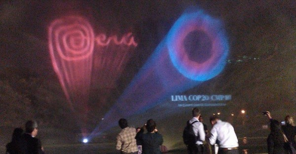 LEDs were used in a display at Lima's magic water park to receive COP20 delegates (Pic: Megan Darby)