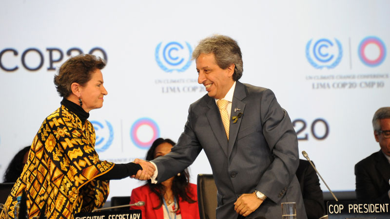 Christiana Figueres and COP20 president Manuel Pulgar Vidal led the UN talks in Lima (Pic: H.E. Mr. Sam K. Kutesa/Flickr)