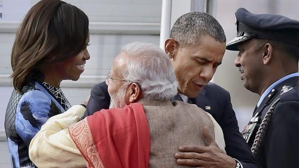 US president Barack Obama and India prime minister Narendra Modi in Delhi (Pic:  Press Information Bureau, Government of India/Kamal Kishore)