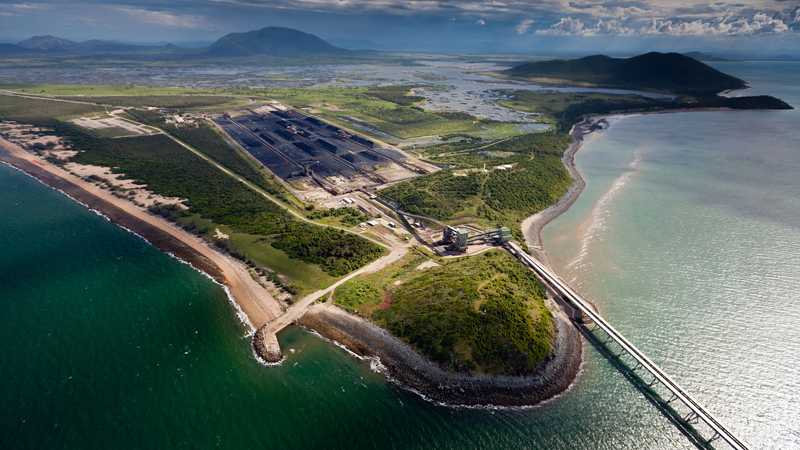 Abbot Point port is a gateway for coal from planned mines in the Galilee Basin (Pic: Greenpeace/Tom Jefferson)