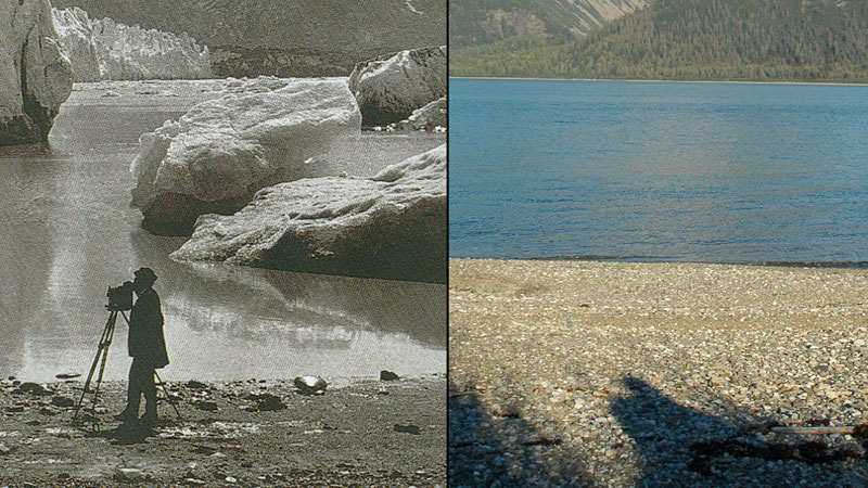 The melting of the Muir Glacier in Alaska, 1891 and 2005 (Pic: G.D. Hazard in 1891 and by Bruce F. Molnia in 2005. Courtesy of the Glacier Photograph Collection. Boulder, Colorado, US and the National Snow and Ice Data Center/World Data Center for Glaciology)