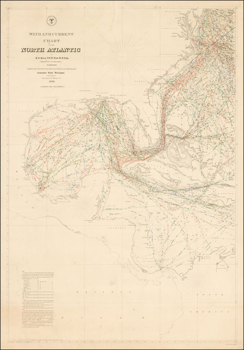 Maury's 1852 map (Pic: United States Hydrographical Office)