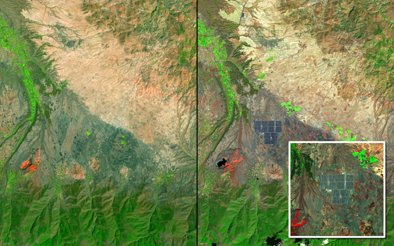 "Pic: U.S. Geological Survey (USGS) Landsat Missions Gallery ""Andasol Solar Power Stations,"" U.S. Department of the Interior / USGS and NASA"