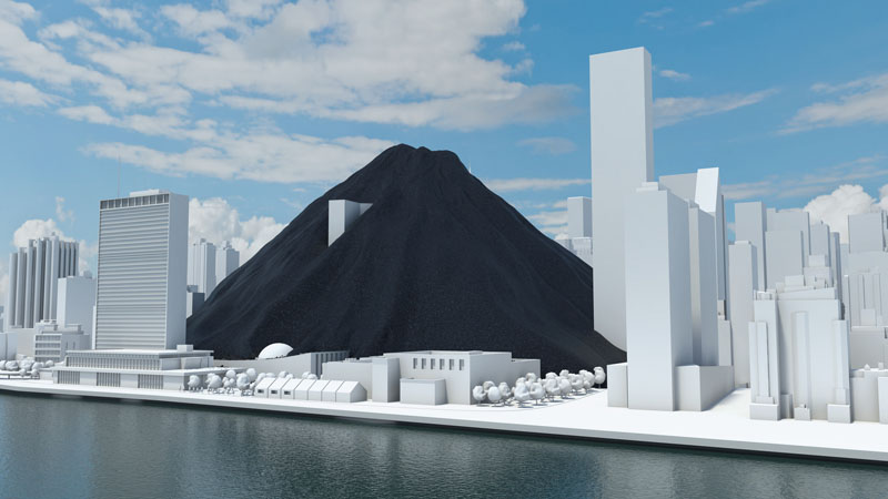 One day's coal consumption would dwarf the UN's HQ in New York (Pic: WBCSD/Flickr)