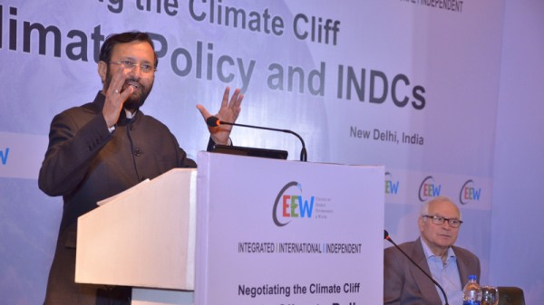 Prakash Javadekar says there is no need for the international community to review India's climate plan (Pic: Centre for Energy, Environment and Water)