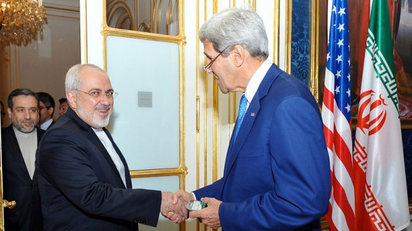 Iran's Javad Zarif meeting US secretary of state John Kerry in Vienna last August (Pic: US State Department)